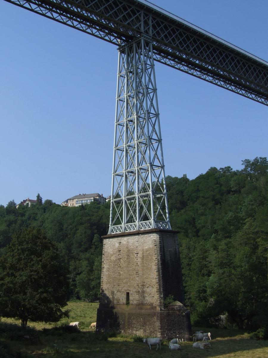 Busseau-sur-Creuse - Le viaduc de Busseau - Une pile servant de pare-soleil pour les vaches