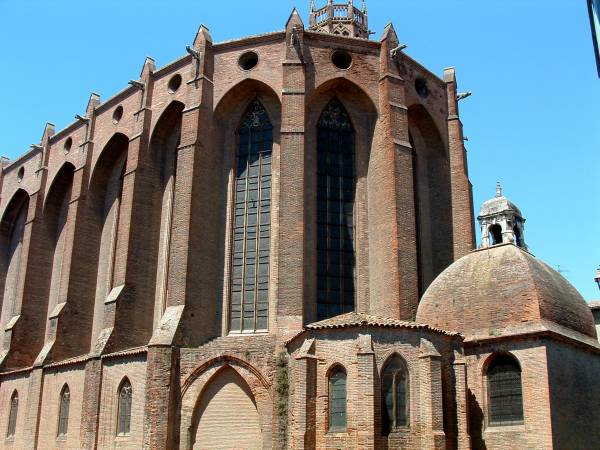 L'église des Jacobins (Dominicains) à Toulouse