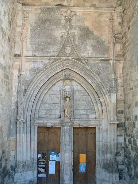 Eglise Saint-Barthélemy, Laplume. Portail d'entrée