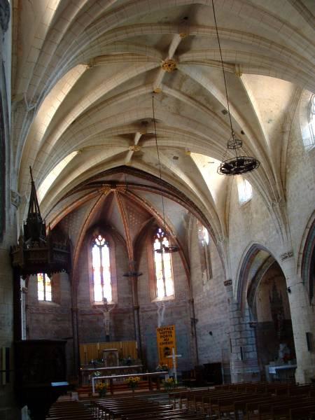 Eglise Saint-Barthélemy, Laplume. Nef
