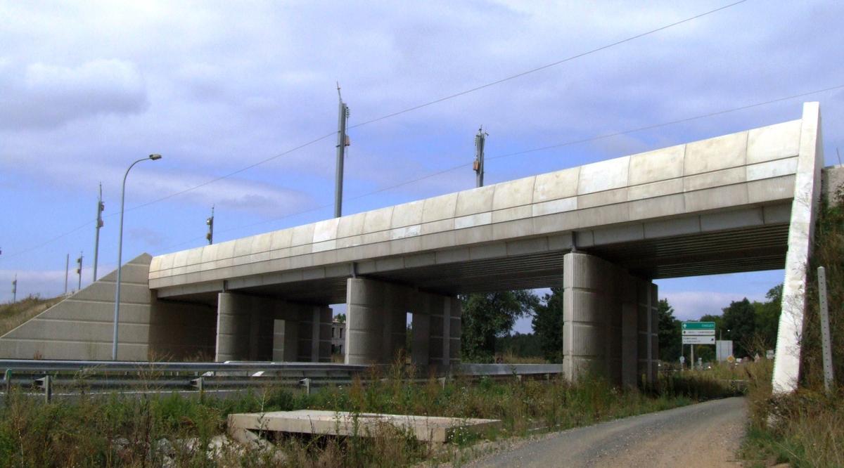 LGV Est-Européenne - Pont-rail de la RN34 à Pomponne (pont à poutrelles enrobées)