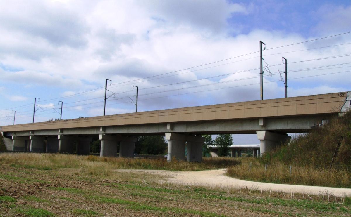 TGV Viaduct across the A4 (Serris)