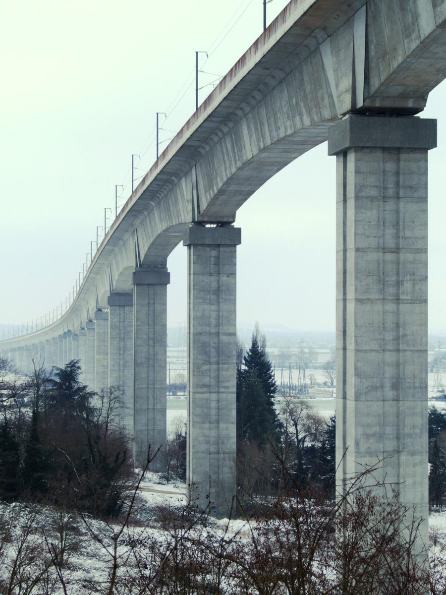 Image no. 77825 LGV Rhône-Alpes - Viaduc de La Costière