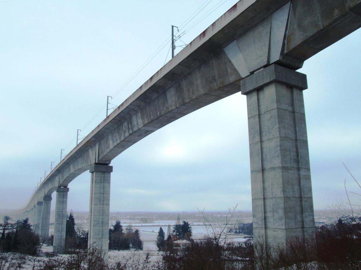 LGV Rhône-Alpes - Viaduc de La Costière