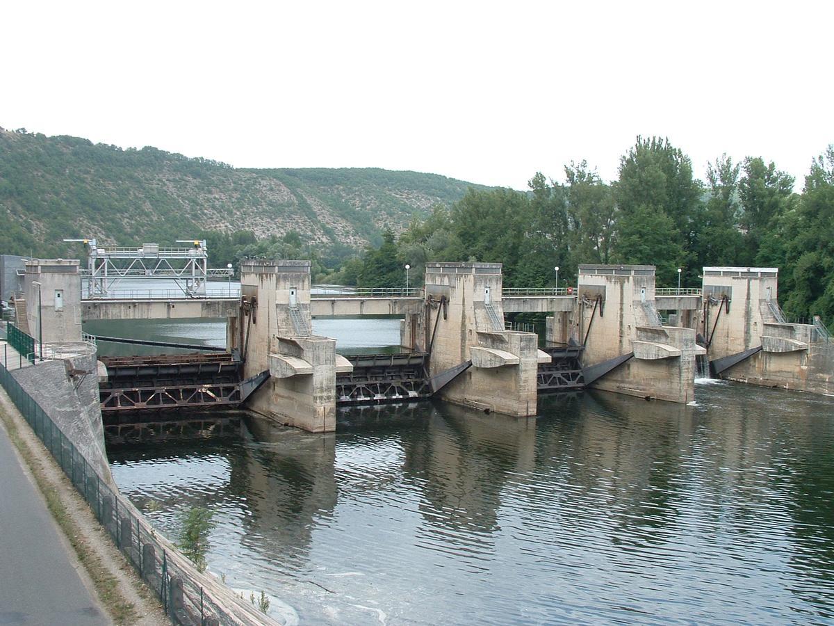 Luzech - Barrage sur le Lot - Ensemble vu de l'aval