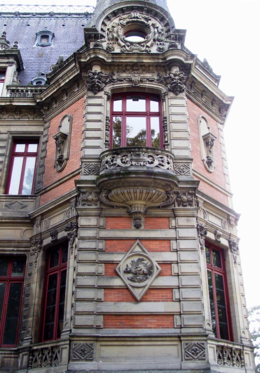 Bar-le-Duc - Château de Marbeaumont (médiathèque Jean Jeukens) - Façade latérale côté lycée - Détail