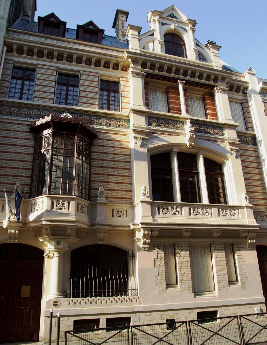 H Tel 9 Rue Fortuny Paris 17 Me 1890 Structurae