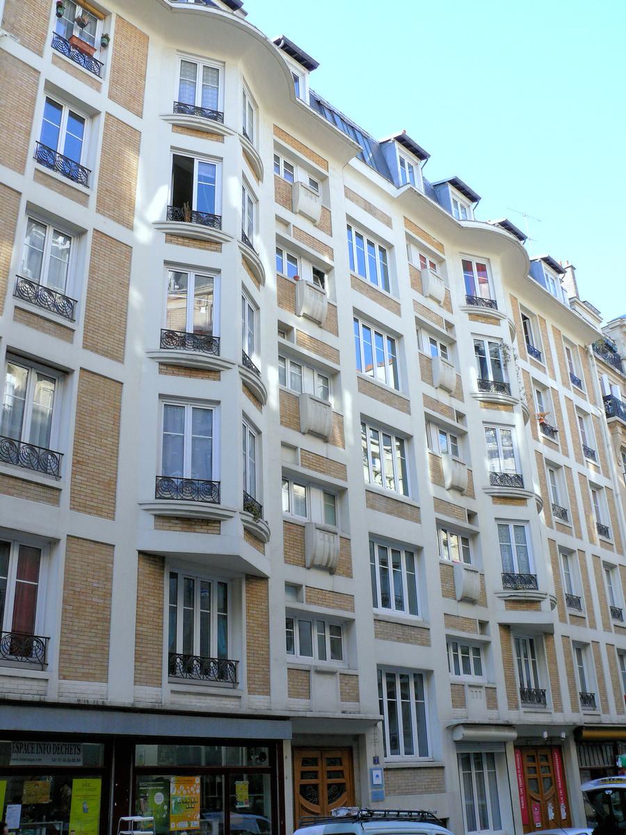 Paris 18ème arrondissement - Immeuble 7 rue de Trétaigne