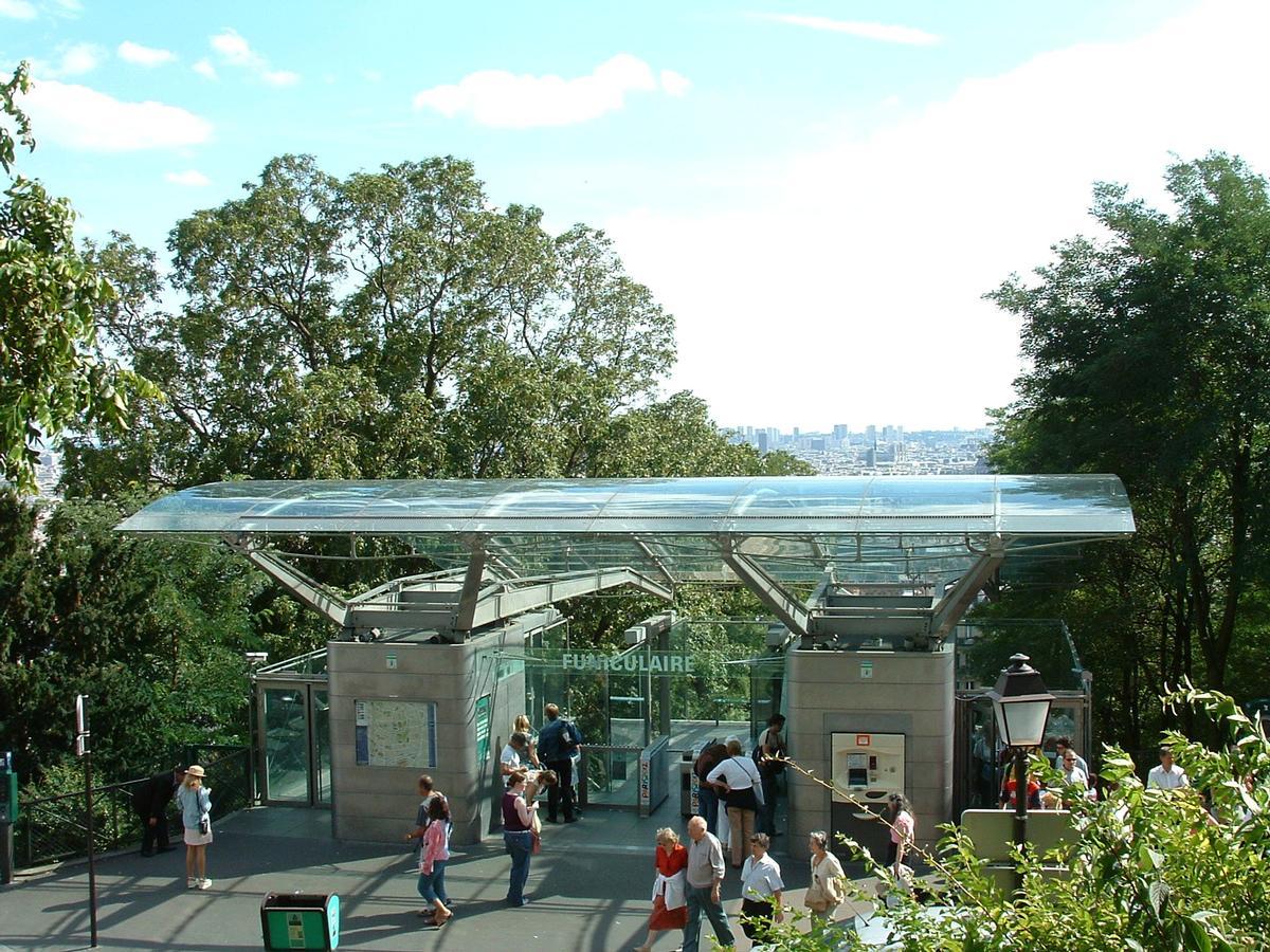 Paris - Funiculaire de Montmartre - Station supérieure