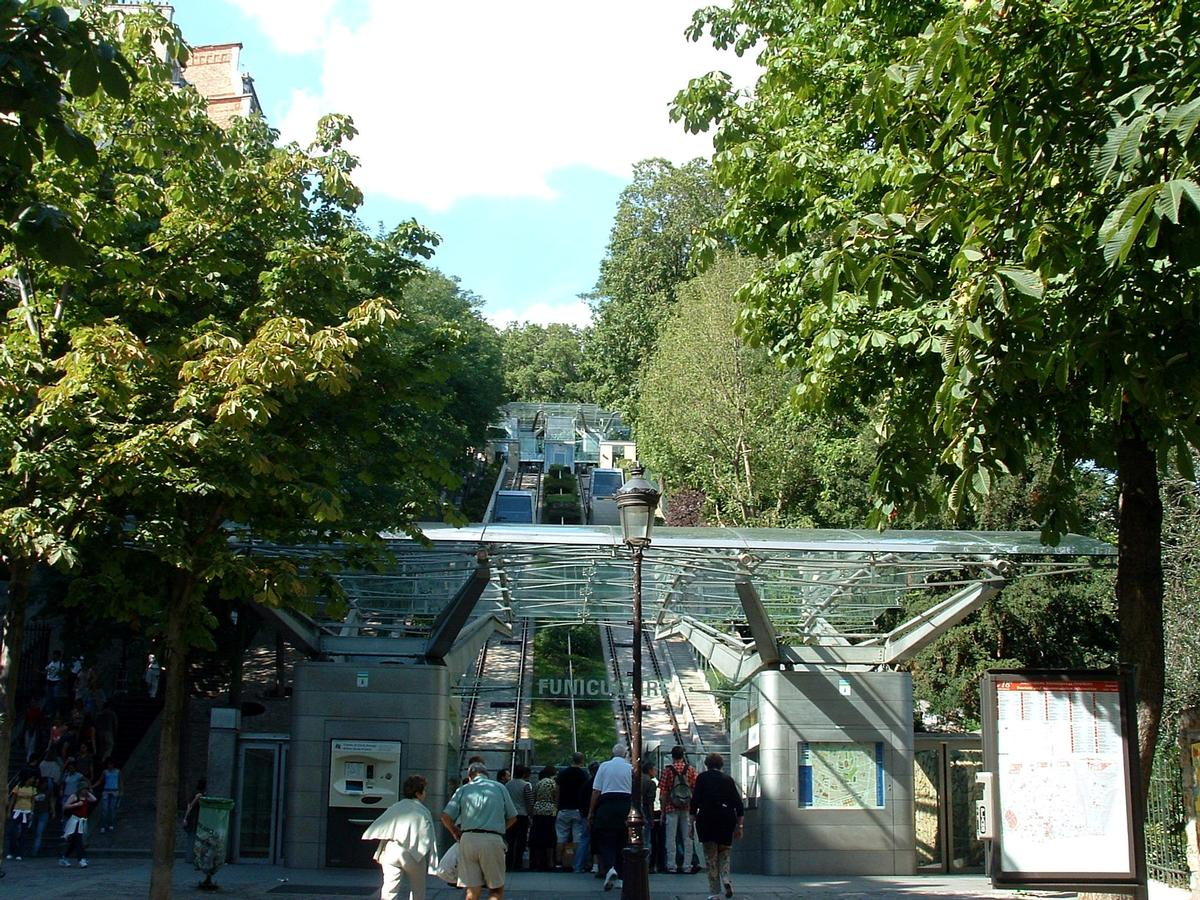 Paris - Funiculaire de Montmartre - Station inférieure