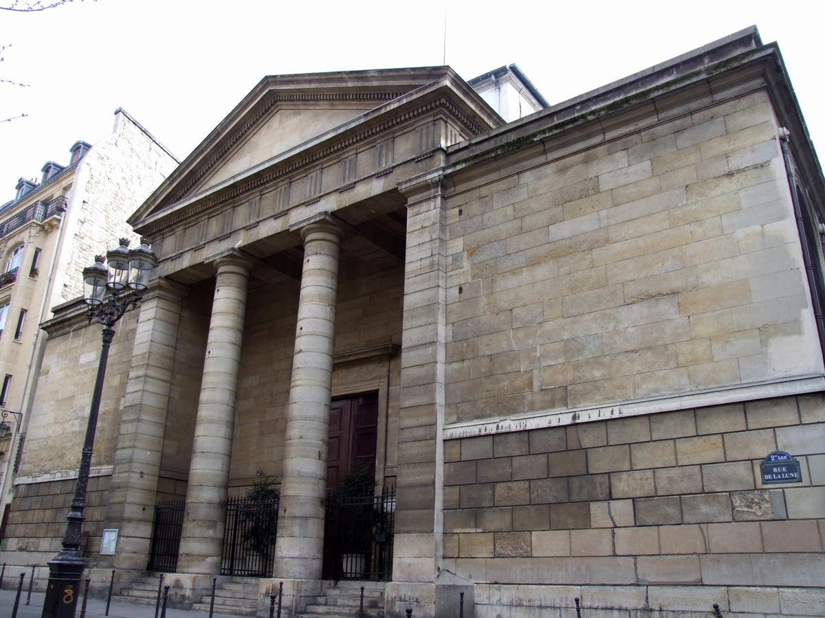 Paris - 2ème arrondissement - Eglise Notre-Dame-de-Bonne-Nouvelle - Façade