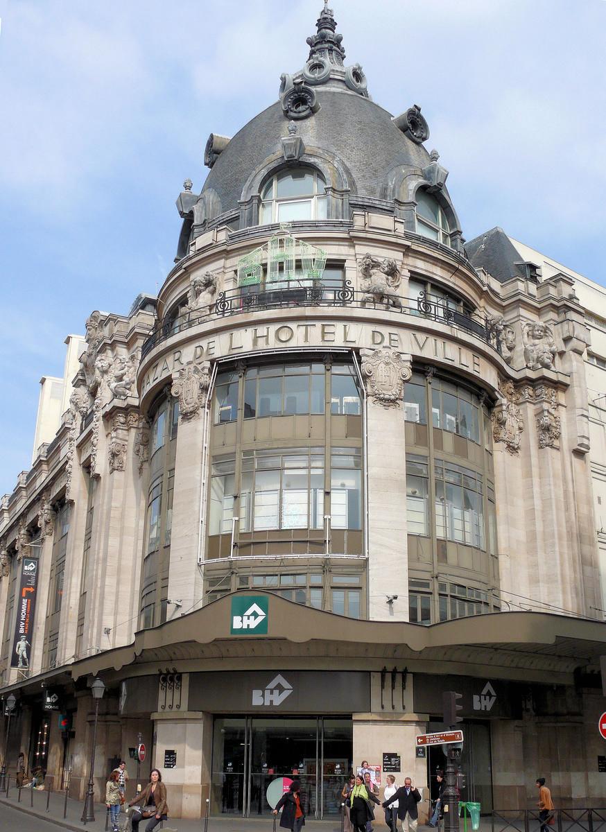Bazar de l 39 h tel de ville paris 4 th 1913 structurae - Bazar de l electricite paris ...