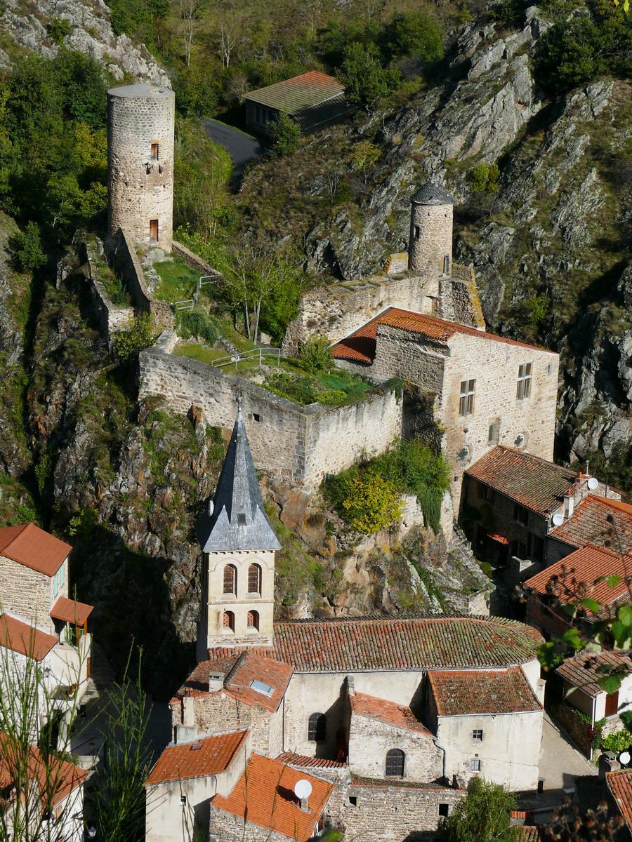 Достопримечательности Saint-Floret: Средневековый мост через реку Couze Pavin