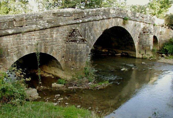 Roman Bridge or Pont de Prégibert at Rolampont.