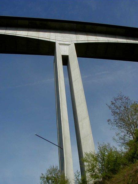 Roquebillère-Viadukt bei Cahors.Pfeiler.