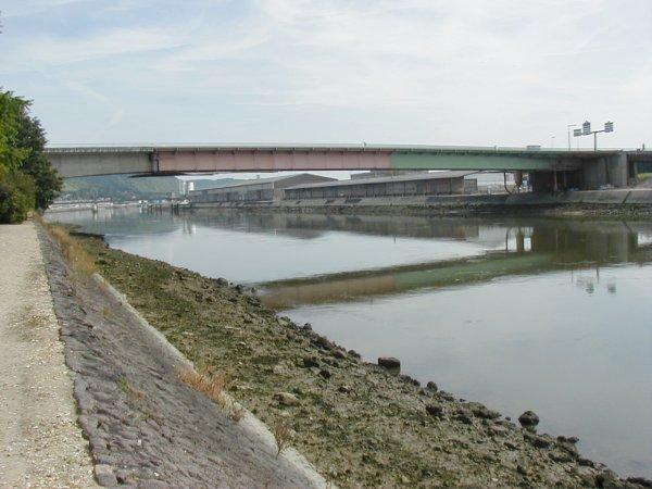 Mathilde Bridge at Rouen.