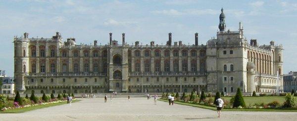 Château de Saint-Germain-en-Laye. Château côté parc