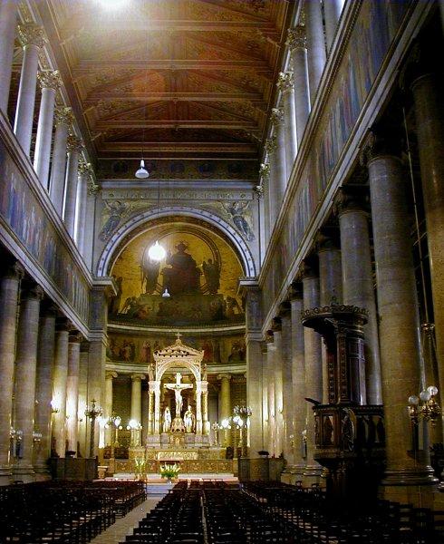 Eglise Saint-Vincent-de-Paul à Paris.Nef.