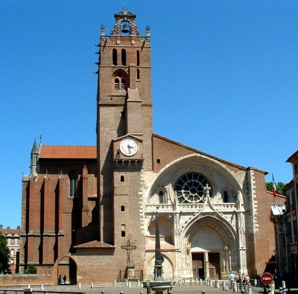 Cathédrale Saint-Etienne, ToulouseFaçade occidentale.
