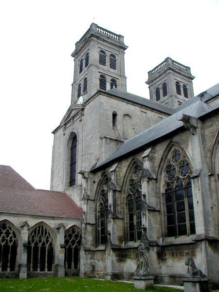 Cathédrale Notre-Dame de Verdun. Cloître et tours
