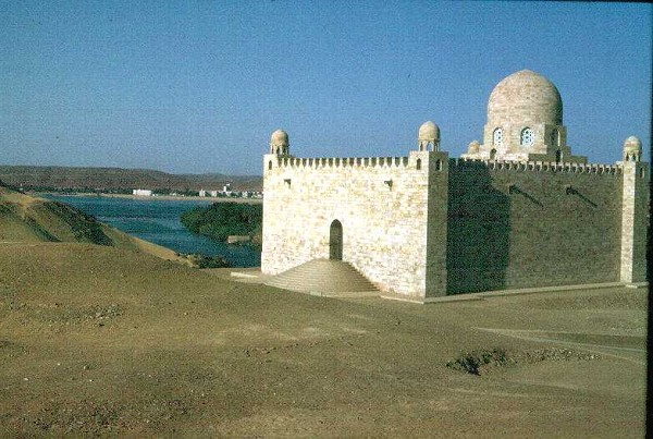 Mausoleum of Aga Khan, Asswan, Egypt, on the left bank of the Nile.