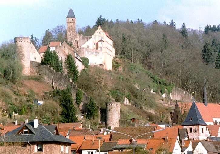 hirschhorn castle hirschhorn neckar structurae
