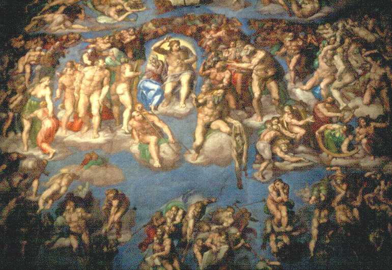 Structurae Fr Vatican Chapelle Sixtine Le Jugement Dernier Fresque De Michel Ange Et De Son Ecole