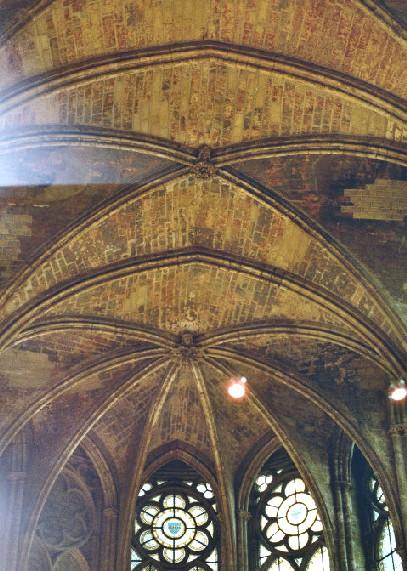 Le château de St-Germain-en-Laye (Yvelines) - les voûtes de la chapelle royale