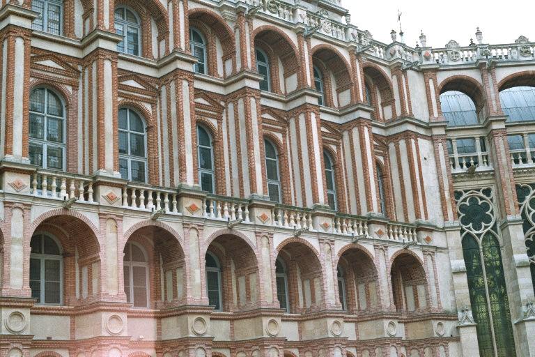 La cour intérieure pentagonale du château Renaissance de St-Germain-en-Laye