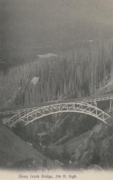 Stony Creek BridgePostcard published by J. Howard A. Chapman, Victoria, B. C.