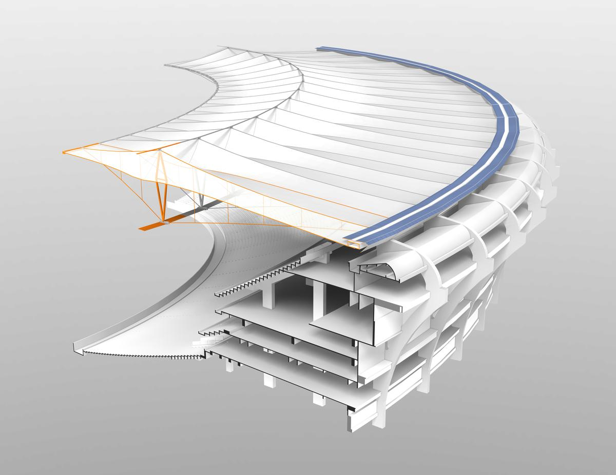 Macaraná Stadium - rendering of a segment