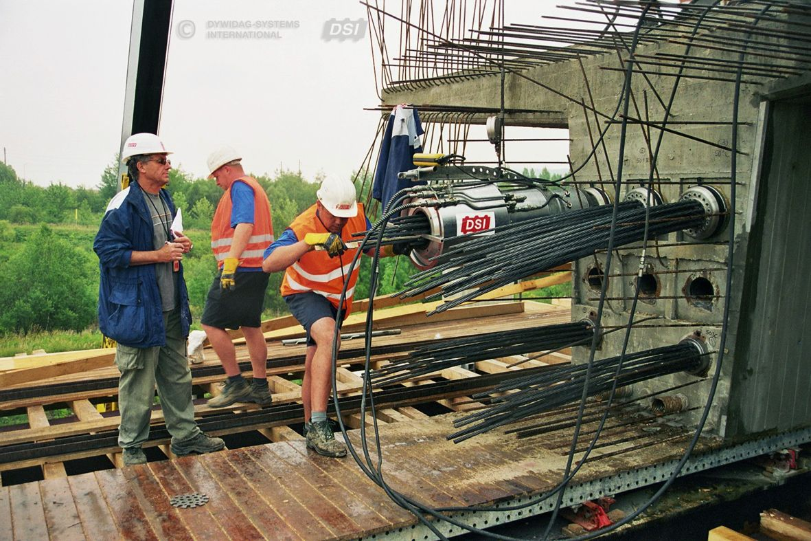 Bonded Post Tensioning : Dywidag bonded post tensioning systems using stran