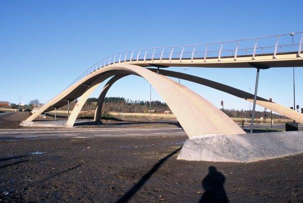 Leonardo's Bridge finally built in Norway.
