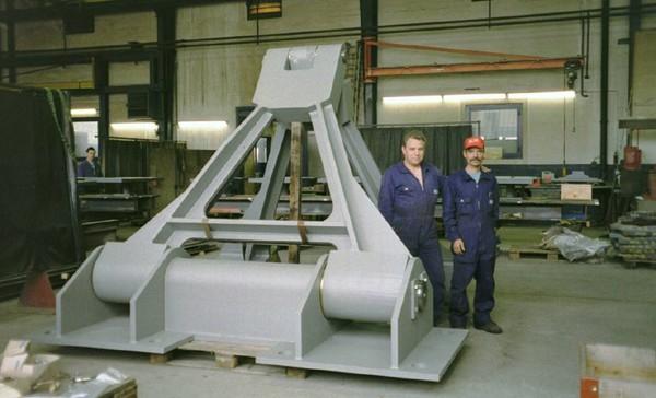 Fertiggestelltes Horizontalkraftlager (Wind Shoe)
