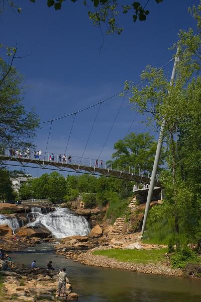 Liberty Bridge, Greenville, South Carolina, USA