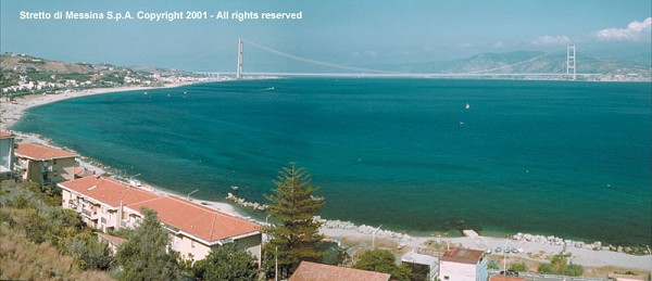 Pont sur le détroit de Messine, projet préliminaire