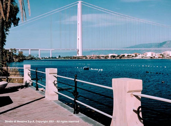 Messina Straits Bridge, preliminary design