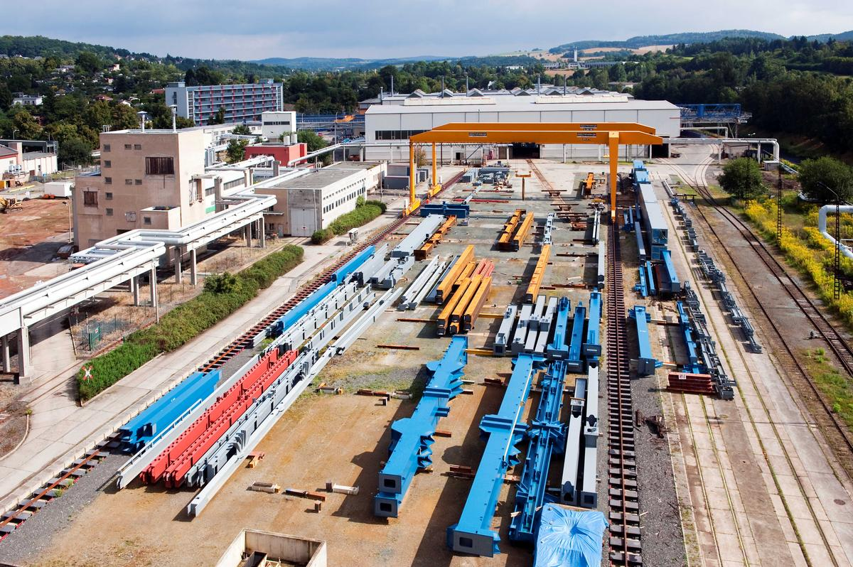 Media File No. 217693 Plauen Stahl Technologie GmbH, Plauen, Germany. Every year, around 20 000 t of structural steelwork leave the production facilities – for these steelwork structures, safety and quality are the top priorities