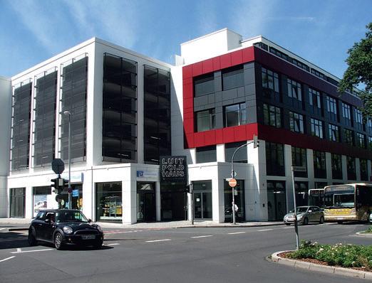 Das Park- und Geschäftshaus Luitpoldstraße 9 in Aschaffenburg