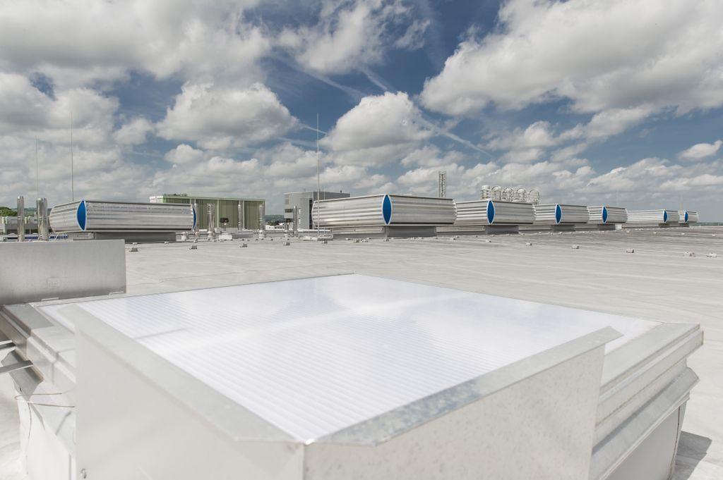 Auf dem Dach befinden sich 15 NRWG