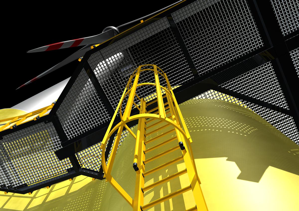 Steigleiter und Geländer aus GFK-Profilen