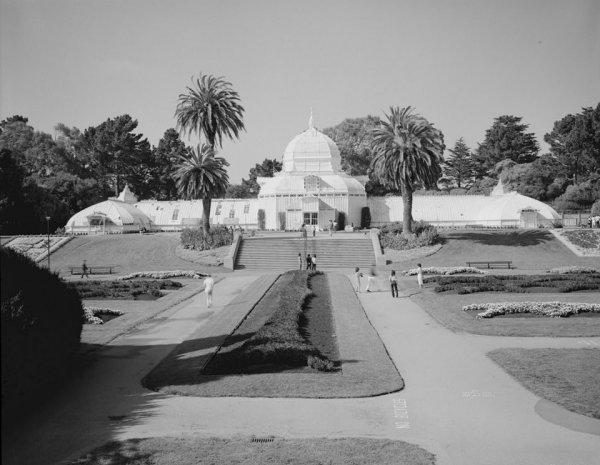 Conservatory of Flowers, Golden Gate Park, Golden Gate (HABS, CAL,38-SANFRA,147-1)