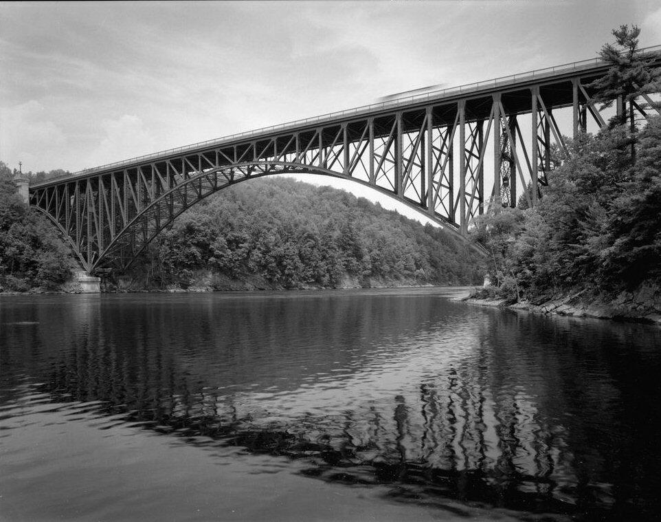 French King Bridge, Erving, Massachusetts, USA.(HAER, MASS,6-ERV,1-7)