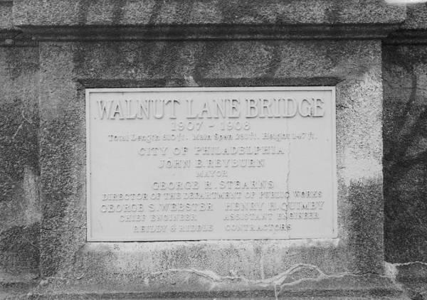Walnut Lane Bridge, Philadelphia Walnut Lane Bridge, Spanning Wissahickon Creek, Philadelphia, Pennsylvania  (HAER, PA,51-PHILA,731-5)