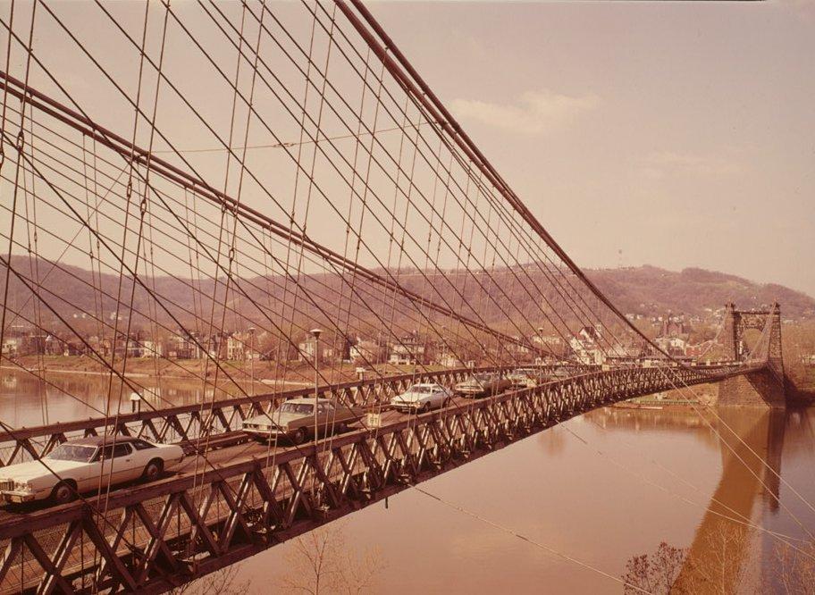 Wheeling Suspension Bridge, Spanning East channel of Ohio River at U.S. Route, Wheeling, Ohio County, WV(HAER, WVA,35-WHEEL,35-59)