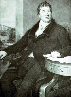 Thomas TelfordEngraving by W. Raddon after a portrait done by Samuel Lane (1831).