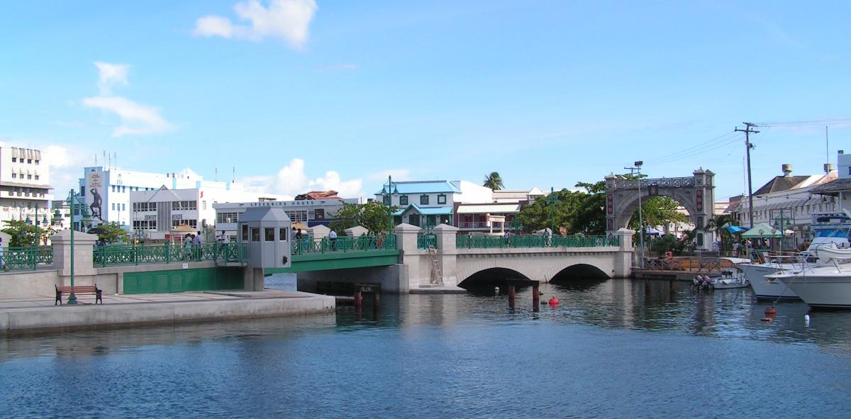 Chamberlain Bridge with Independence Arch in Bridgetown, Barbados(photographer: regani)