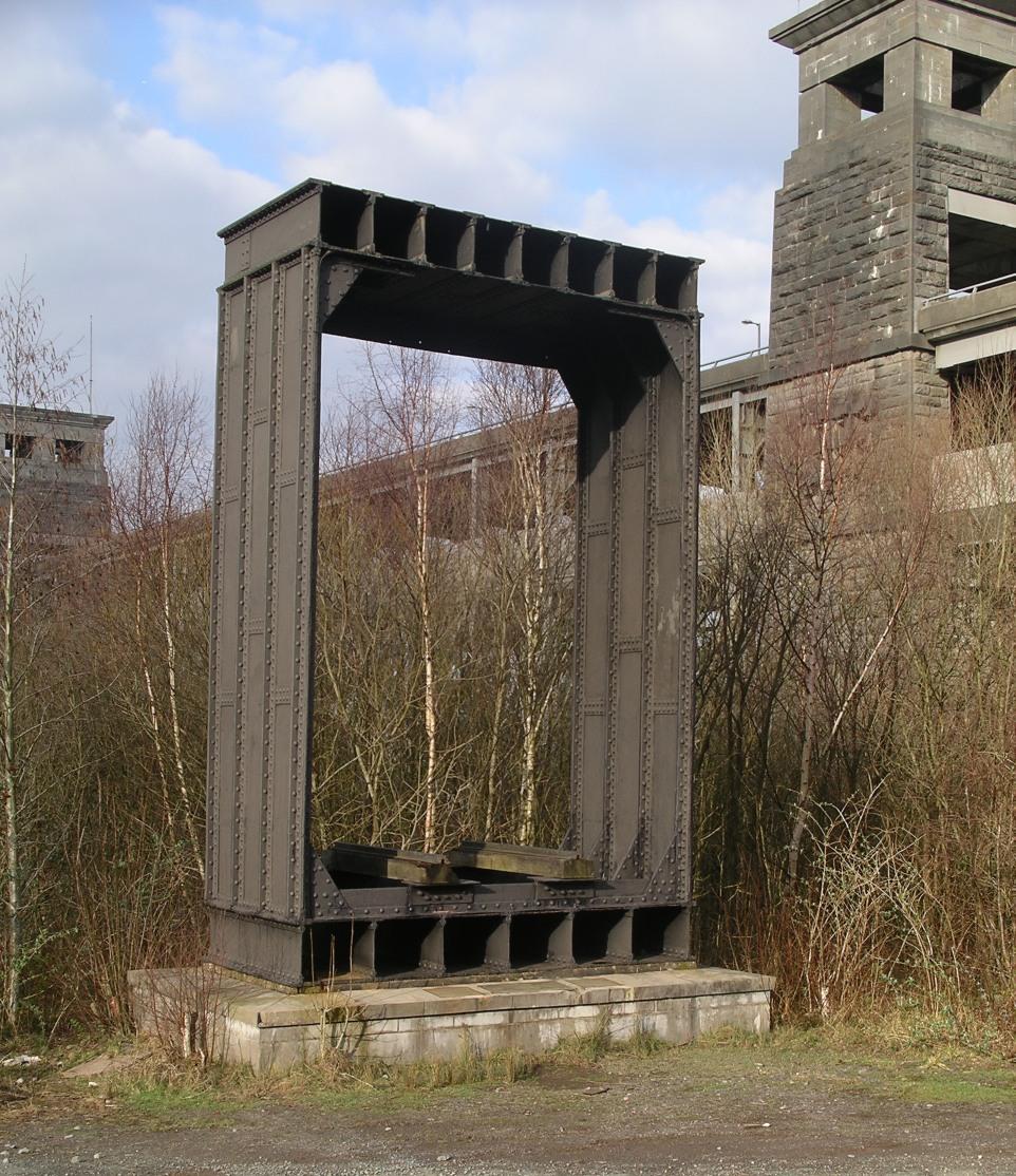 Wrought iron section of original Britannia Bridge