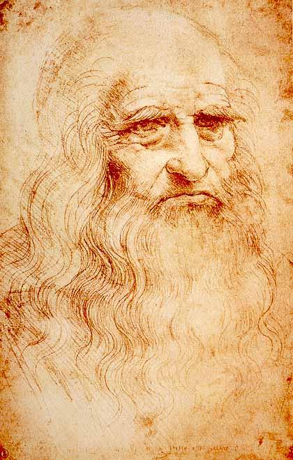Selbstporträt von Leonardo da Vinci