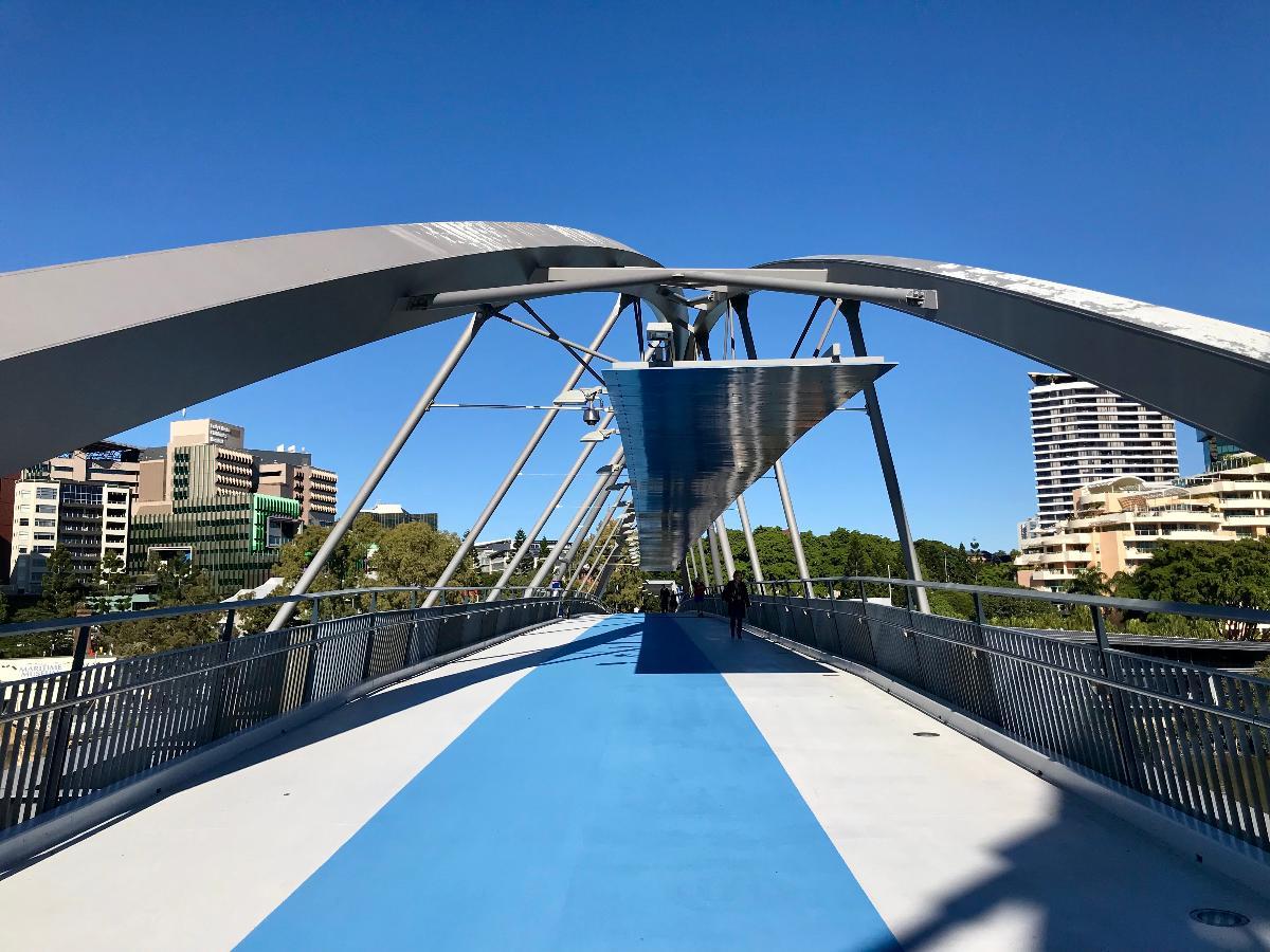 On the Goodwill Bridge, Brisbane